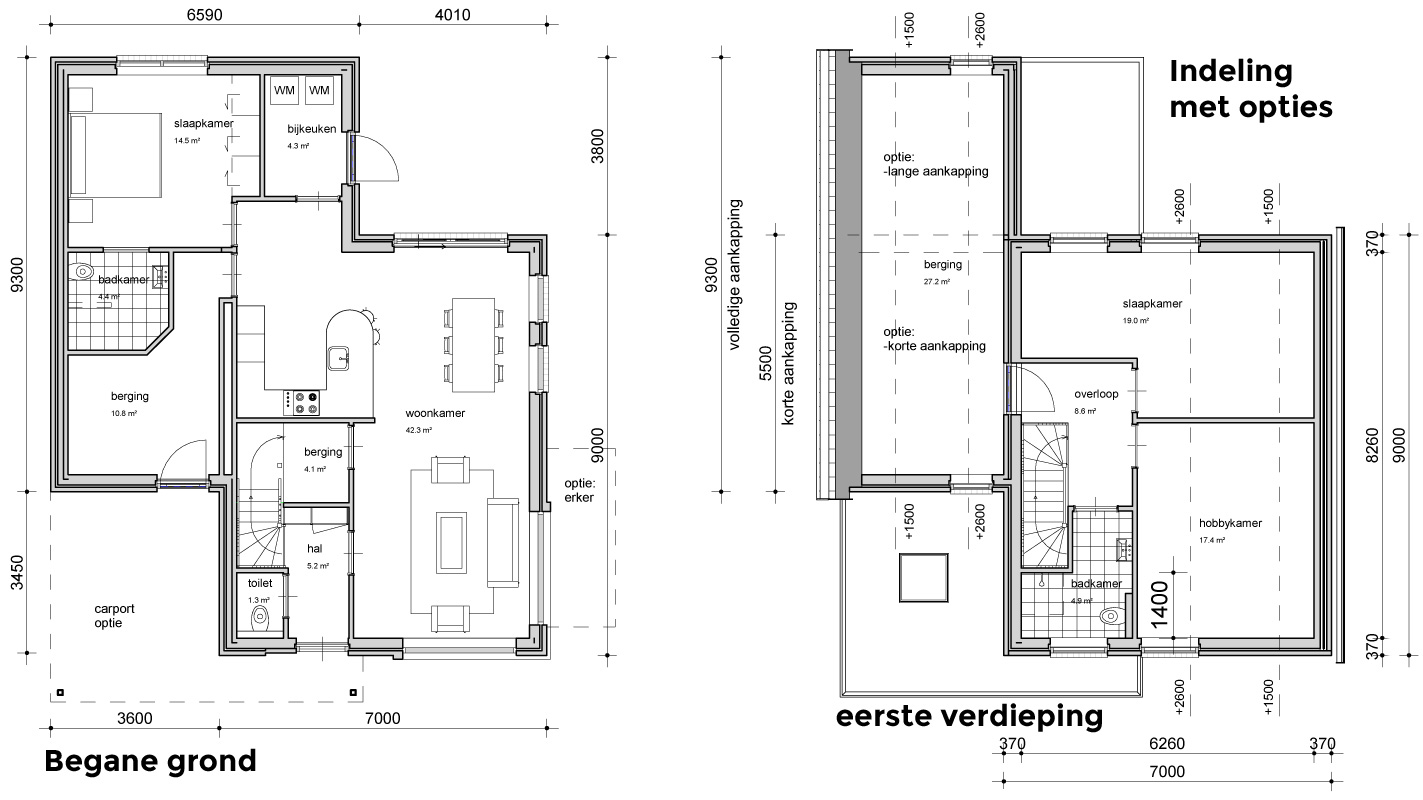 opties indeling woningen marum